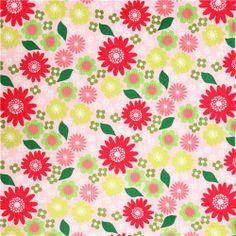 pink flower Izzy minky fabric fleece plush Robert Kaufman