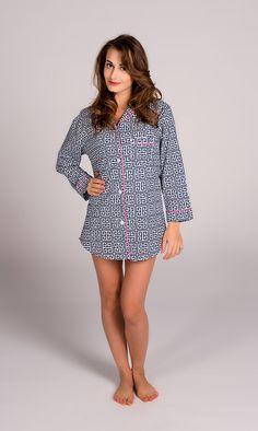 acb342800c Molly Blue Night Shirt Boyfriend Shirt