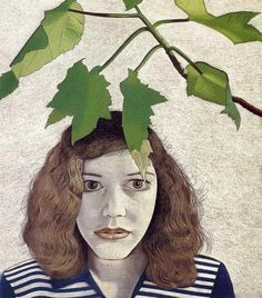 Girl with Leaves — Lucian Freud Girl with Leaves, 1948 by Lucian Freud Sigmund Freud, Figure Painting, Painting & Drawing, Lucian Freud Paintings, George Grosz, Robert Rauschenberg, Artists And Models, Edward Hopper, David Hockney