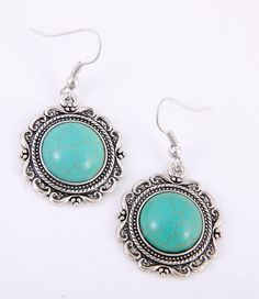 FG300 - Dangle Turquoise Earrings - Monica