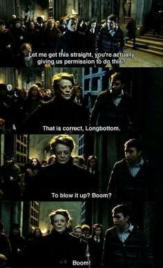 """Ask Mr. Finnigan to help you out. I believe he has a particular proclivity for pyrotechnics!"" -McGonagall"