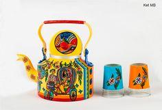 Handpainted utility cum home decor teapot Madhubani by AKrazyMug1