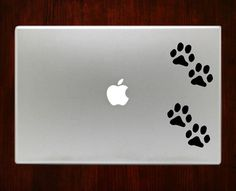Paw prints Macbook Decal Stickers