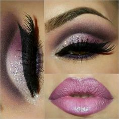 Cut crease pink, plum, pink lips