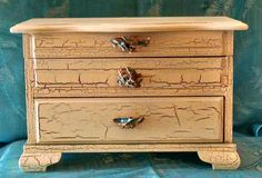 Vintage Upcycled Cottage Chic Jewelry Box by 805Collectibles