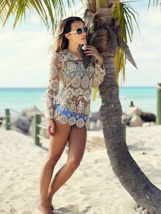 This crochet top can be styled for the city and as a beach coverup! Click on the picture to get it!