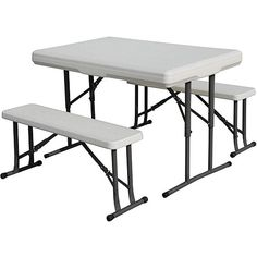 Stansport Camp Table with Folding Bench Seats, Stansport Folding Picnic Table, HDPE Picnic Table, Outdoor Picnic Table