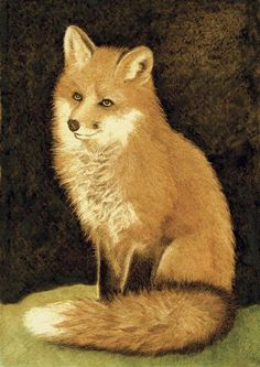 Red Fox Portrait Painting