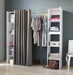 ich mag vorhange und doppelstangen das konnte fur madchen funktionieren closetideas closetideas kleiderschrank ideenschlafzimmer