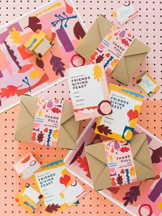 Hosting a Friendsgiving this year? We've got you covered! Use our printable invitations, tags, leftover labels, and name tags. All on Lars today! Branding And Packaging, Packaging Design, Branding Design, Design Food, Web Design, Graphic Design, Happy Design, Diy Thanksgiving Crafts, Thanksgiving Decorations