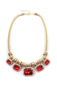 Rings Necklace with Rhinestone Pendant [FTBJ00266]- US$ 8.99 - PersunMall.com
