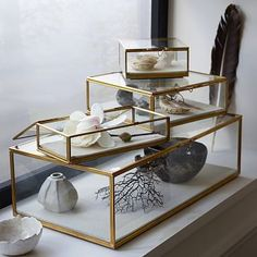 (use for jewelry) Glass Shadow Boxes #westelm