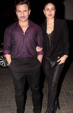 Saif Ali Khan and Kareena Kapoor Khan at Anil Kapoor's birthday bash