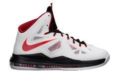 new styles f6684 dc308 The LeBron X  Home  released today at Nike Basketball retailers, featuring  a White   University Red   Black   Pure Platinum colorway made for the  American ...