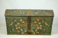 Swedish folk art painted chest 1837