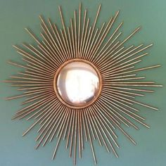 Gold sunburst wall m
