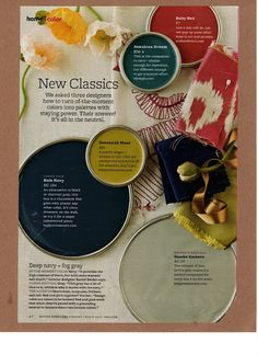 Color Palette from Better Homes and Gardens (Mar 2012)