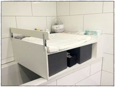 Changing attachment Bath Wood Build your own Wood Bathtub, Diy Bathtub, Bathtub Remodel, Bathtub Cover, Bath Table, Baby Room, Kids Room, Sweet Home, Furniture