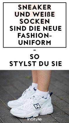 Mode-Trend: Diesen Trend hätten wir nicht erwartet. Influencer stylen jetzt weiße Sportsocken zu Sneakern. Alles über den neuen Schuh-Trend! #instyle #instylegermany #mode #modetrend #schuhe #schuhtrend #sneaker #sneakertrend #sportsocken #trendsneaker #herbsttrend #wintertrend #sockentrend