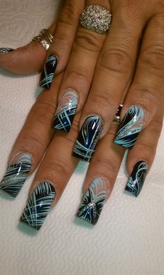 the blues by AlysNails