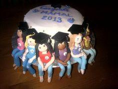 Grad Group Cake