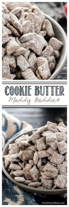 Cookie Butter Muddy Buddies! Seriously the best muddy buddies EVER! - Eazy Peazy Mealz