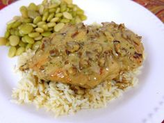 Toasted Pecan Chicken | Plain Chicken (Use toasted almonds instead of pecans)
