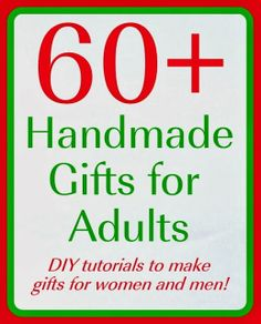 The V Spot: 60+ Handmade Gifts - Ideas and tutorials.
