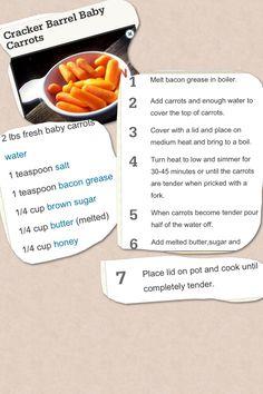 Cracker Barrel carrots