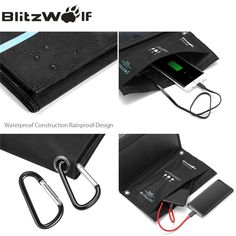BlitzWolf Dual USB Solar Power Bank Solar Panel Powerbank External Battery Pack For iPhone X 8 For Samsung Phone Backup Charger Solar Charger, Portable Charger, Portable Solar Panels, Mini Camera, Solar Power, Iphone 7, Usb, Samsung, Ipad Air