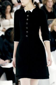 Another little black dress with buttons