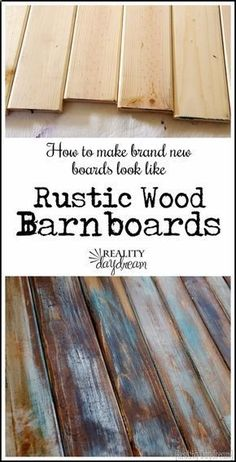 Cool Woodworking Tips - Make New Wood Look Like Old Distressed Barn Boards - Easy Woodworking Ideas, Woodworking Tips and Tricks, Woodworking Tips For Beginners, Basic Guide For Woodworking diyjoy.com/...