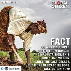 What @pearljam said! #Repost ・・・ Take action to ensure the 795 million people who are currently suffering from hunger and malnutrition have access to nutritious food year-round. Learn how you can get involved & earn free tickets to the @GlblCtzn Festival at GlobalCitizen.org #GlobalCitizen