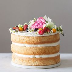 How to Ditch the Fondant and Make Your Own Naked Wedding Cake