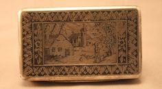 Antique Silver and Niello Cigarette /snuff Case #Unknown