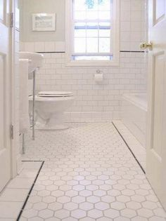 White Square Tile Bathroom photo gallery: mandy milks's bathroom makeover | window frames