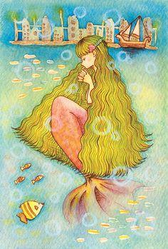 「人魚姫」 「The Little Mermaid」 Illustration : Shoko.h