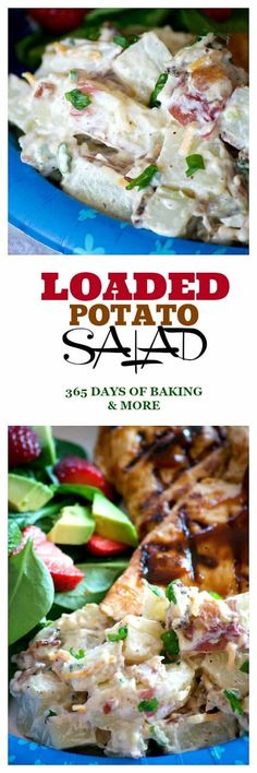 Our Loaded Red Bliss Potato Salad with all the fixin's - a dijon-mayo dressing, bacon, green onions and cheese is a potato salad you'll eat all summer long! Healthy Vegetable Recipes, Healthy Salad Recipes, Healthy Food, Red Bliss Potatoes, Loaded Potato Salad, Best Side Dishes, Side Dish Recipes, Fun Recipes, Delicious Recipes