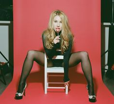"""In the gauzy, pretty, beachside clip for """"Last Kiss Goodbye"""", presents herself as a classic American beauty – the sort of screen presence designed to summon daydreams. Haley Reinhart, Classic Rock Albums, Torch Song, Last Kiss, Nylons And Pantyhose, Old Singers, Jolie Photo, Latest Video, Long Legs"""