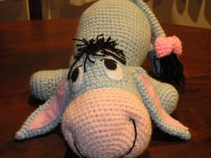 PDF - Eeyore the Winnie the Pooh& donkey friend - 12 inches amigurumi doll crochet pattern Crochet Gratis, Crochet Amigurumi, Cute Crochet, Amigurumi Patterns, Amigurumi Doll, Crochet For Kids, Crochet Dolls, Knitting Patterns, Knit Crochet