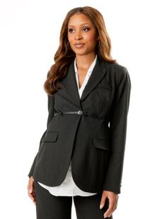A Pea in the Pod: Belted Bi-stretch Suiting Maternity Jacket $119.99