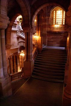 State Capitol staircase in Albany, NY