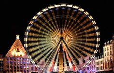 Lille, France - Ferris Wheel on the Grand place