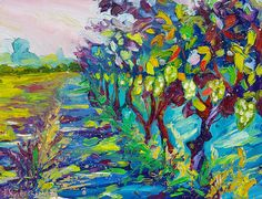 Wine Art Painting - Grape Vines Painting by Ekaterina Chernova