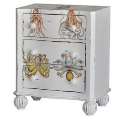 74816 Furniture Restoration, Mermaid Nursery, Funky Furniture, Interior Design Inspiration, Paint Designs, Furniture Accessories, Painted Night Stands, Furnishings, Dyi Furniture