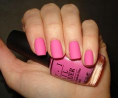 Discovered by Sparkle. Find images and videos about pink, nails and nail polish on We Heart It - the app to get lost in what you love. Matte Pink Nails, Matte Nail Polish, Pink Polish, Nail Gel, Hot Nails, Hair And Nails, Fabulous Nails, Gorgeous Nails, Trendy Nails