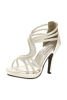 Touch Ups Womens Tuesday Platform Sandal Silver 7 M US ** Visit the image link more details.