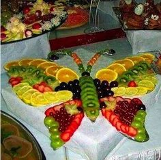 Fruit butterfly centerpiece