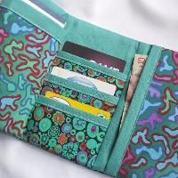 This looks useful. A colorful tri-fold wallet.