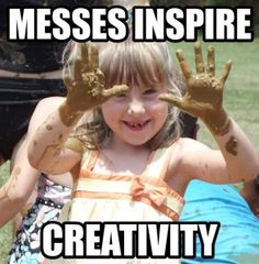 {10 Ways to Cope with Messes} There is no doubt that letting kids explore mud, paint, and other messy materials sparks their wild creativity. It also requires utmost presence and patience, #awesomelyawake